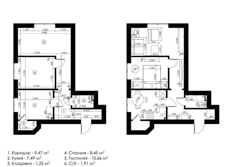 Фото из статьи: Как обустроить квартиру, в которой всё очень маленькое