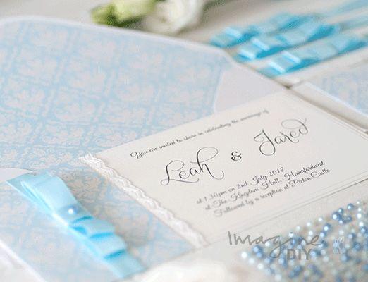 DIY wedding invitation idea. Make your own wedding stationery. Imagine DIY wedding stationery supplies