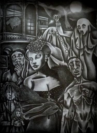 "Saatchi Art Artist Celeste Gómez; Drawing, ""Madame Lalaurie.( the murder of New Orleans.)"" #art"