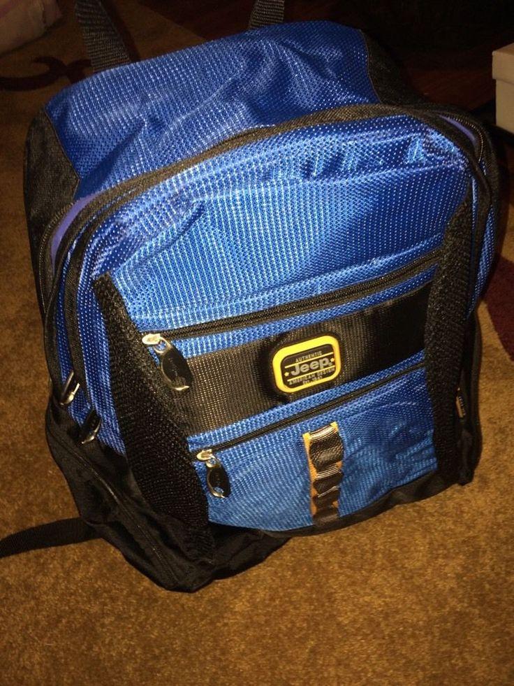 NWOT Jeep BackPack Blue and Black  #Jeep #Backpack