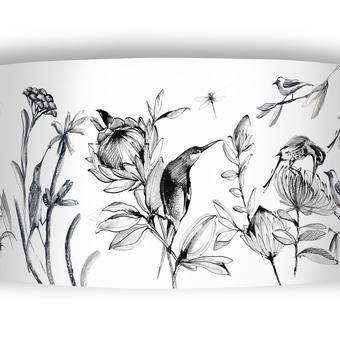 Sharon B Design's fantastic South African flora and fauna designs for lampshades and candles