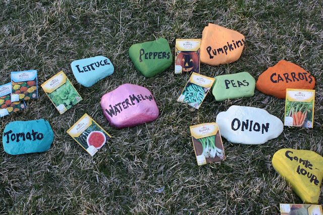 Fun DIY Seed Markers for your garden.  Kids can help too.