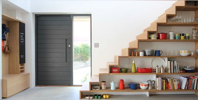 Gorgeous Staircase / Shelves from the AMAZING Corkellis House featured on Grand Designs... <3 it!
