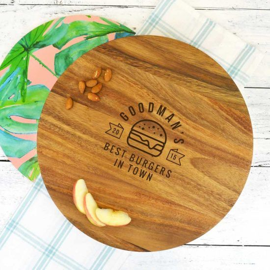 Personalised Best Burger Chopping Board
