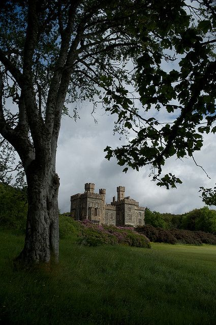 Lews Castle which overlooks the  city of Stornoway in the Isle of Lewis in the Outer Hebrides of  Scotland.