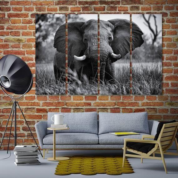Pin On Original Wall Art Elephant decor for living room