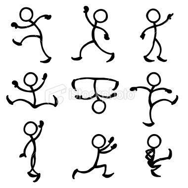 Stickfigure Dance Royalty Free Stock Vector Art Illustration