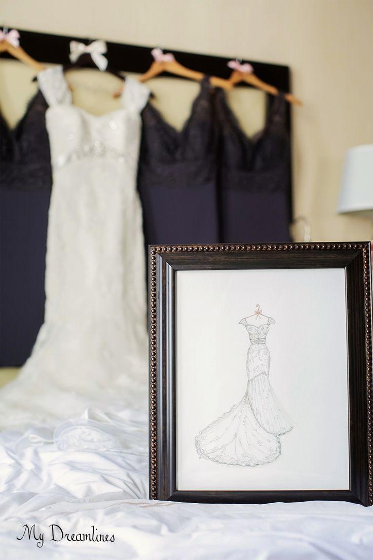 Wedding Dress Sketch Gallery Wedding Day GiftsWedding