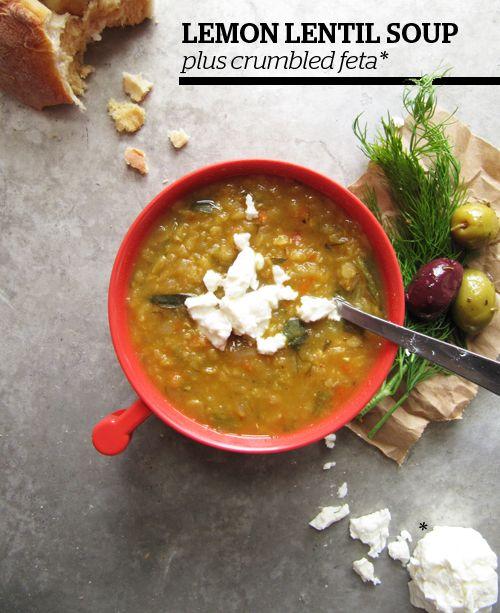 Lemon lentil soup (just like at Anita's Kitchen!)