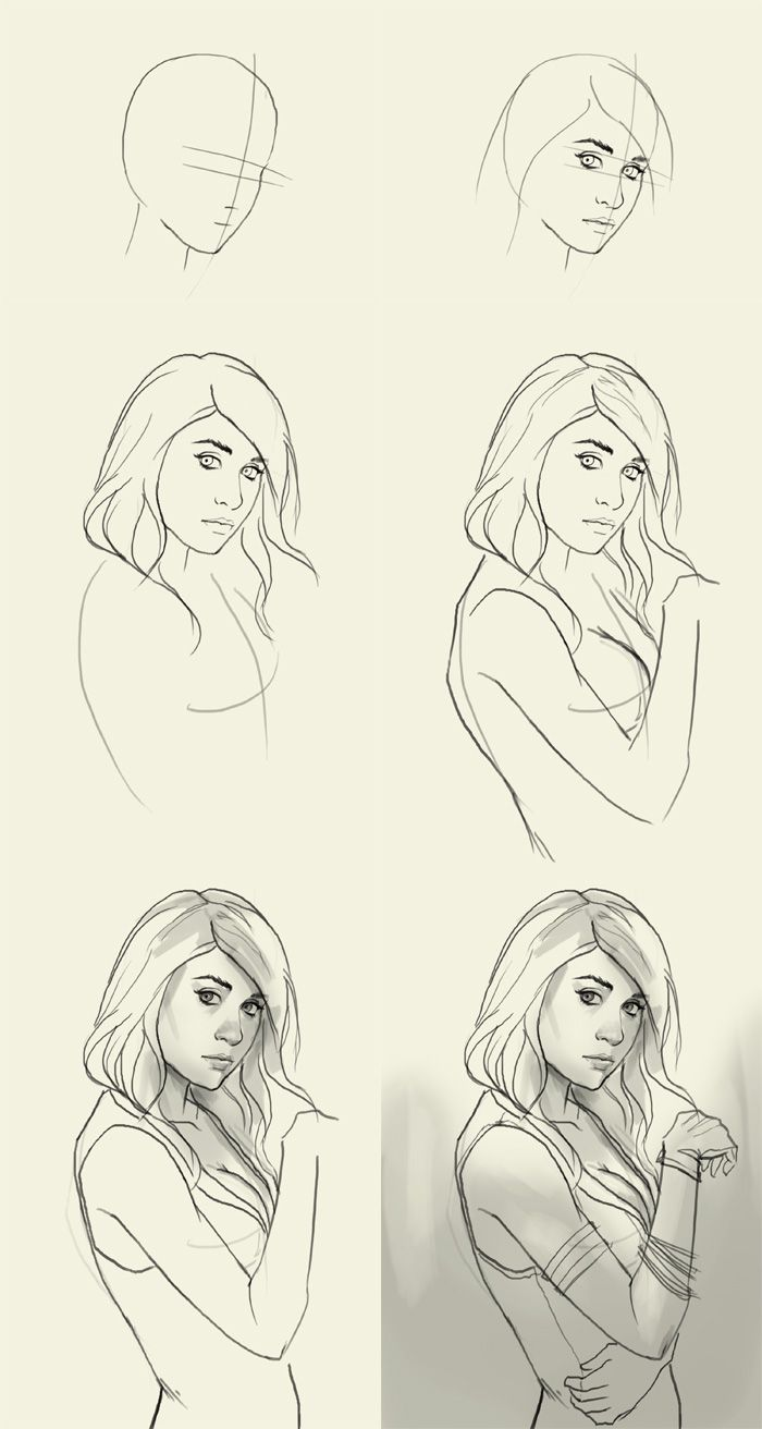 Drawing tutorial. I like the graduation and it helps for just a reference to refer back to when you get stuck.