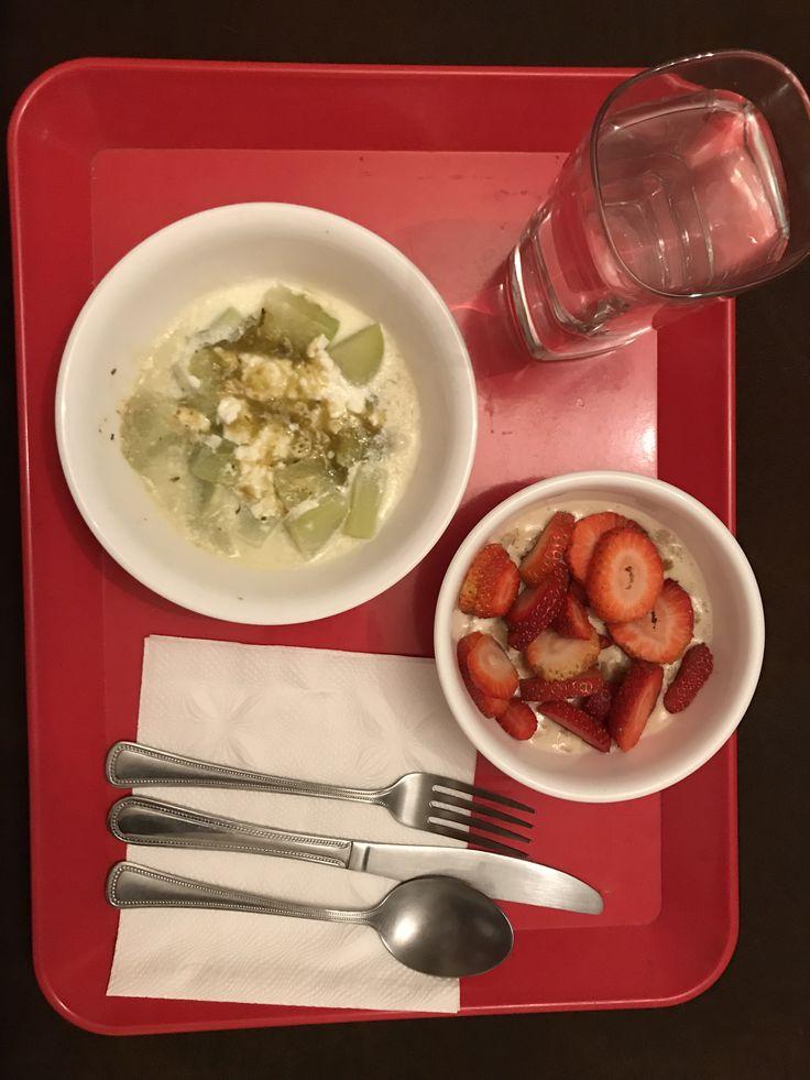 Avena con fresas + chayote con queso cotagge y salsa verde