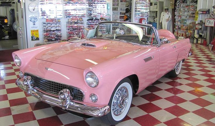 Sunset Coral 1956 Ford Thunderbird