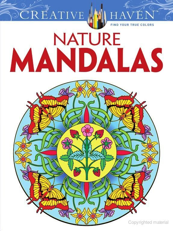 Creative Haven Nature Mandalas Coloring Book Dover Design Books Marty Noble For Adults