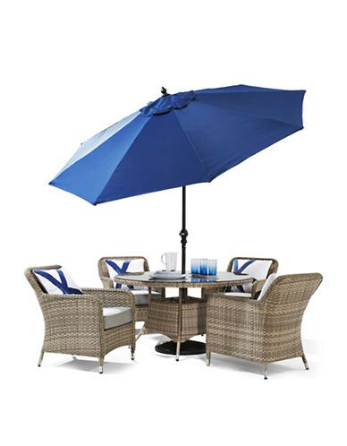 Dine in style this summer with this comfortable outdoor 5 piece Ipanema I  dining set by GlucksteinHome  Exclusively Ours  this set seats 4  comfortably and. 83 best Outdoor Style images on Pinterest   Drinkware  Outdoor