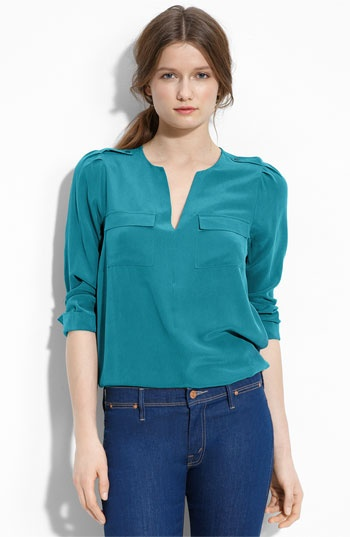 I heart blouses, I LOVE the color of this it also looks silk, which makes it prettier