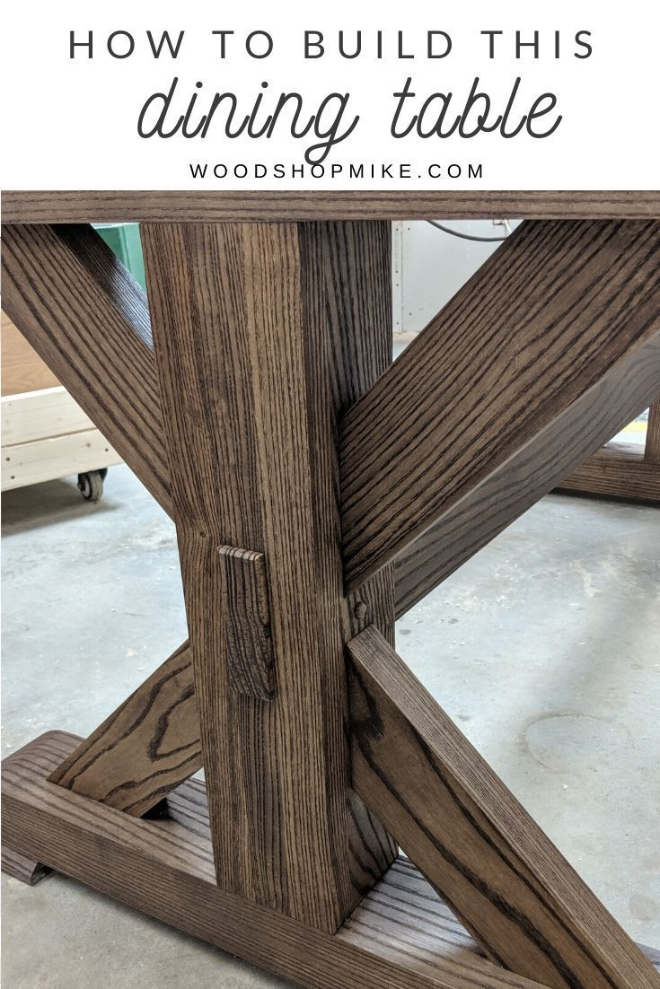 Build Your Own Trestle Dining Table In 2020 Woodworking Projects Table Diy Dining Table Farmhouse Style Dining Table