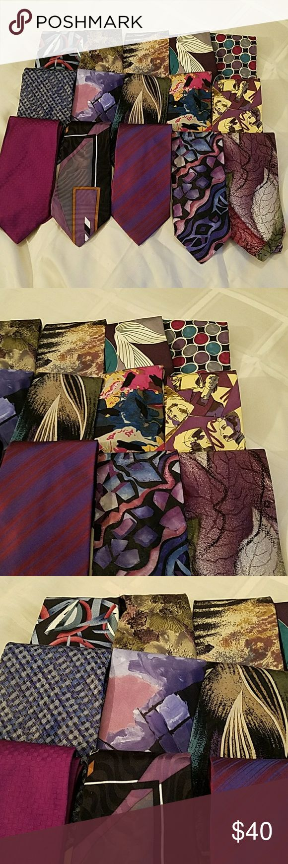 Lot of 15 Ties Pink, blue and purples. Various designers, all good, wearable condition Accessories Ties