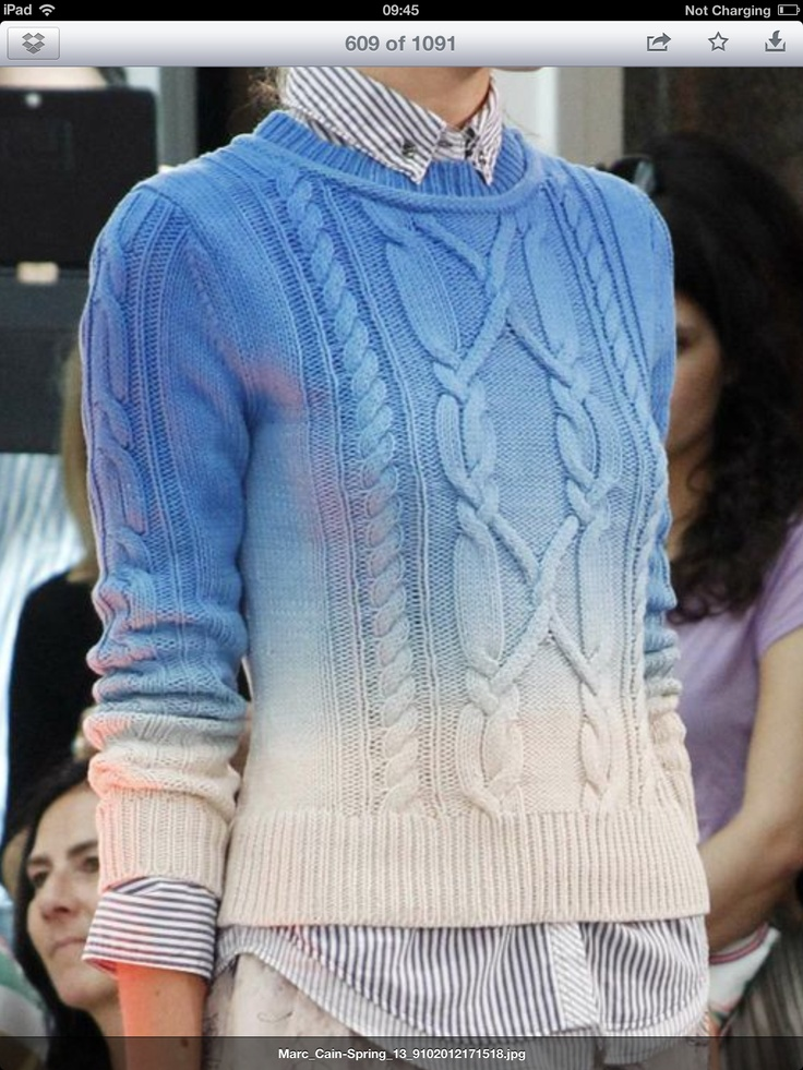 Must buy thrift store sweater to dip-dye.