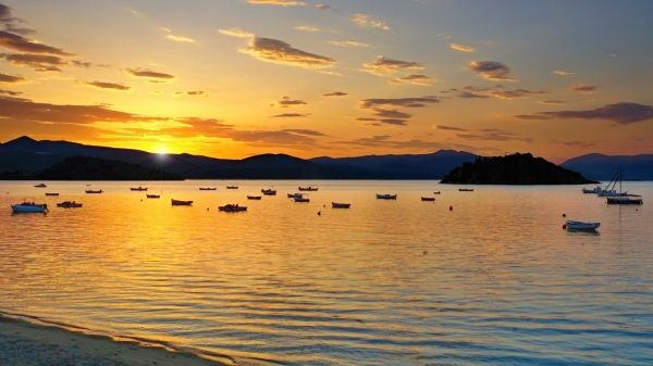 Dawn in Tolo beach close to Nafplion, Peloponnese