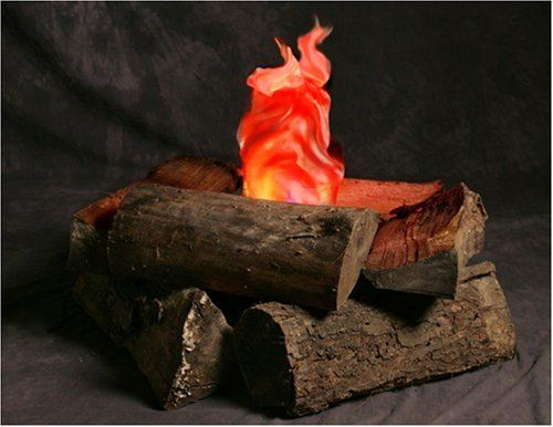 Indoor campfire an artificial flame fake fire indoor for Indoor fire decoration
