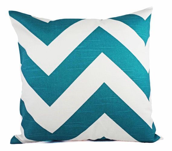 Turquoise Pillow Covers  Two Deep Turquoise by CastawayCoveDecor, £18
