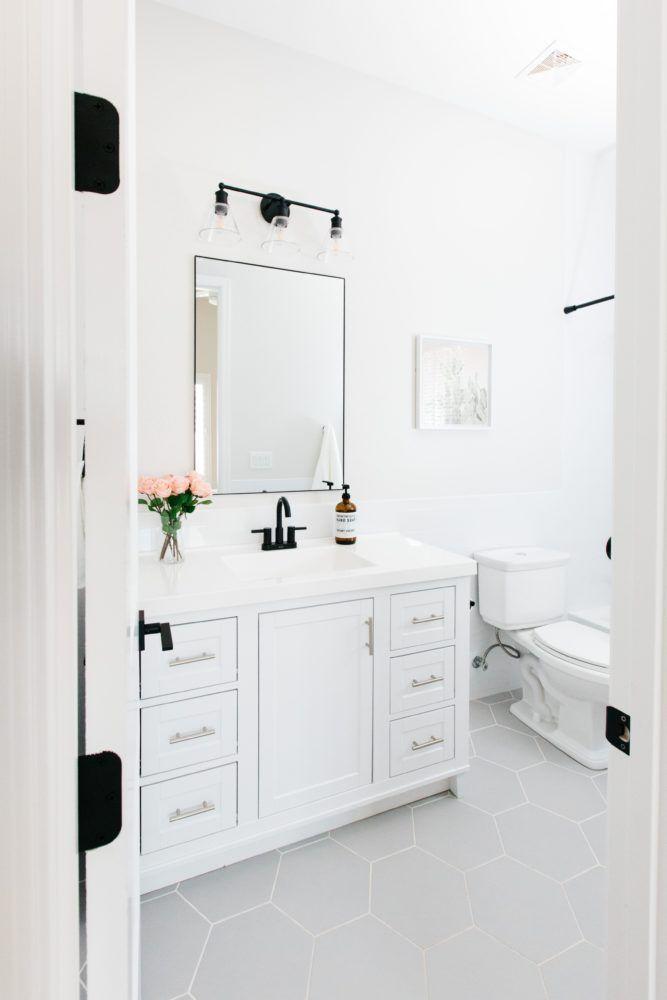 Modern Hexagon Tile Floor Decor Bathroom Inspiration Design Your Own Bathroom Bathroom Design Layout