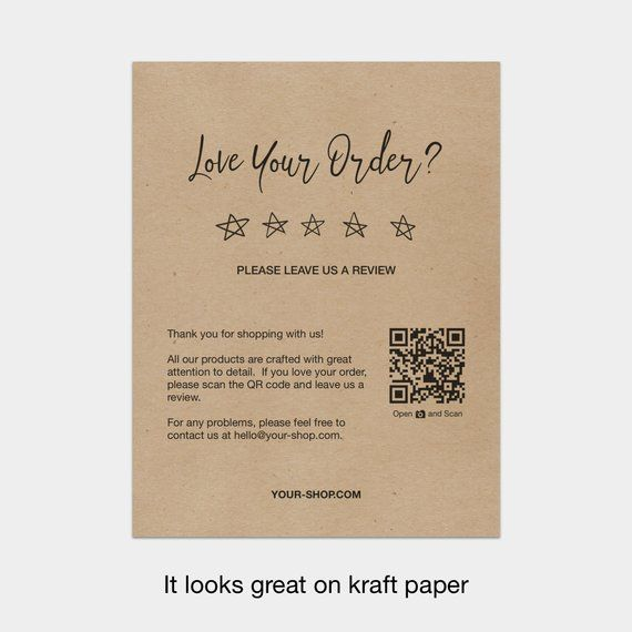 Printable Review Cards Feedback Cards Packaging Inserts For Etsy Sellers Online Sellers Love Your Order Please Leave Us A Review Etsy Packaging Business Thank You Cards Thank You Card Design