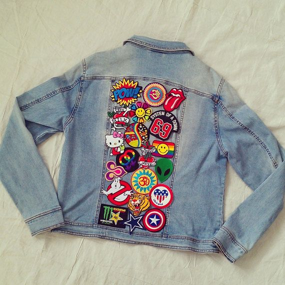 Patched Denim Jacket / Reworked Vintage by KodChaPhornJacket465