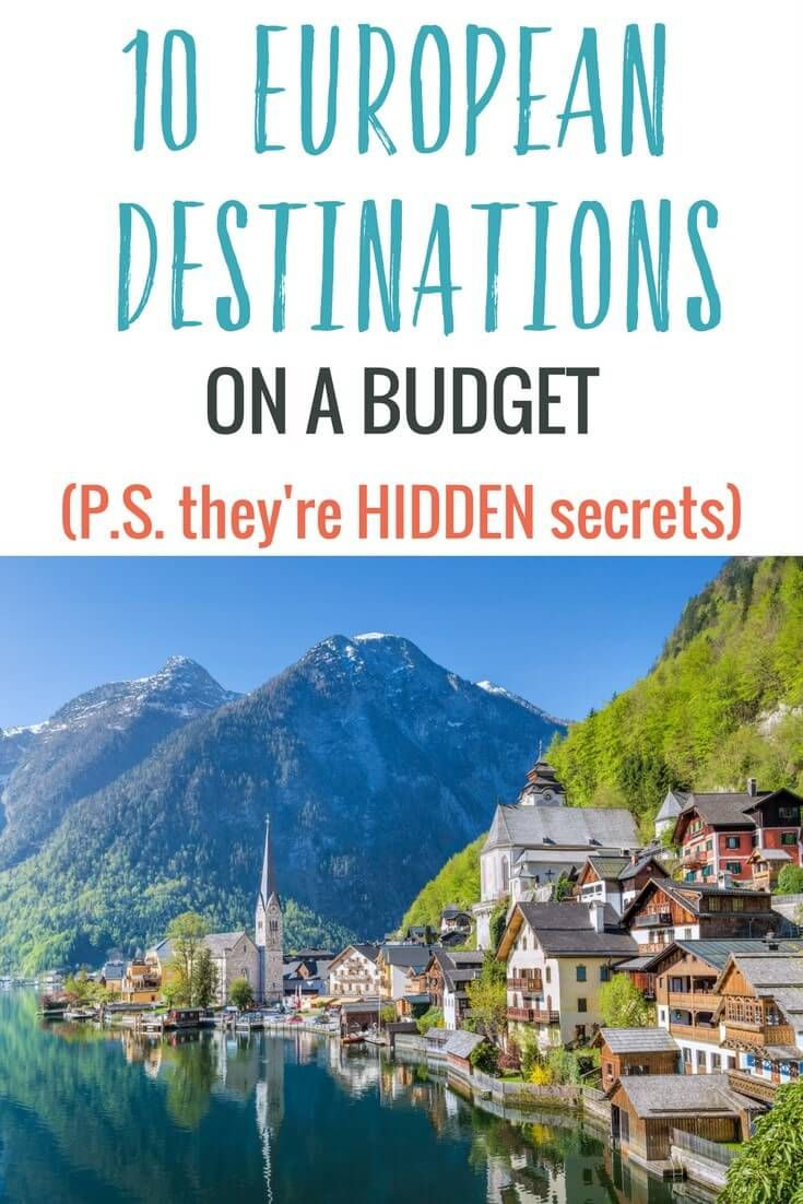 Ready to travel to Europe? These 10 secret hidden destinations in Europe on a budget will make you happy. We're talking accommodation less than €30 a night. #EuropeTravel #Travel #Adventure