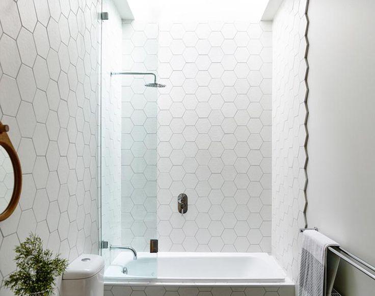 M s de 25 ideas incre bles sobre baldosas hexagonales de - Azulejos hexagonales bano ...