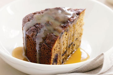 Warm sticky date pudding with sweet caramel sauce is the perfect winter dessert.