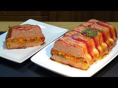 Receta Pastel de pollo envuelto en bacon (panceta o tocino ahumado) - Recetas de cocina - YouTube