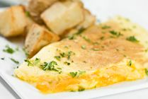 This omelet is the best way to wake up. Use Original Black Diamond Cheese spread #spreadyourflavour