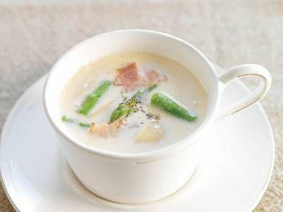 アスパラのミルキースープレシピ 講師はMakoさん|使える料理レシピ集 みんなのきょうの料理 NHKエデュケーショナル