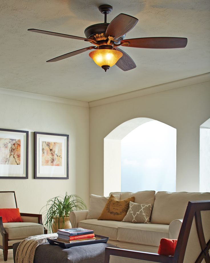 The St Ives Ceiling Fan By Monte Carlo Has A Large Motor For True Air