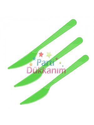 Yeşil Plastik Bıçak Lüks (25 adet)
