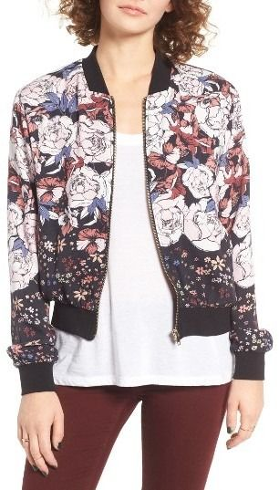 Elodie Floral Bomber on ShopStyle.