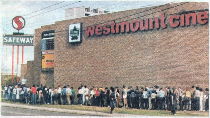 Westmount Cinema during the opening of Return of the Jedi May 25, 1983. Image Courtesy of Vintage Edmonton https://www.facebook.com/TheVintageEdmonton?fref=ts