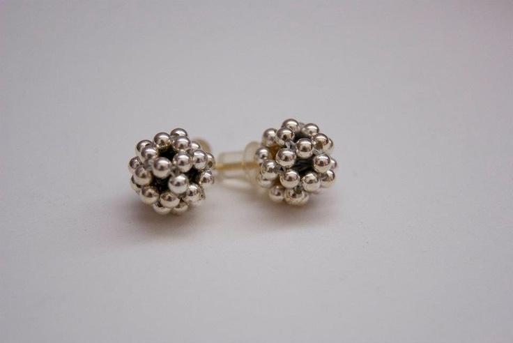 Silver Spheres Earings