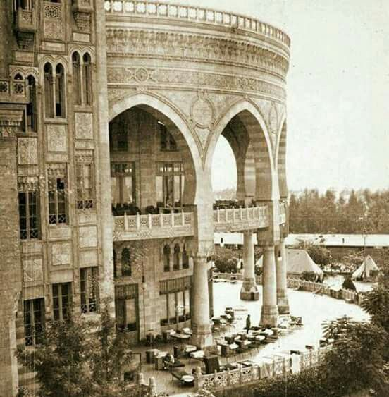 The Heliopolis Palace Hotel Cairo 1920, now the Presidential Palace. Shared by Edith Cruz