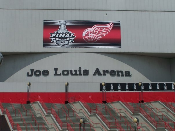 Detroit, Michigan - Joe Louis Arena - Home of the Red Wings, until their move in 2017 to the new Little Cesars Arena