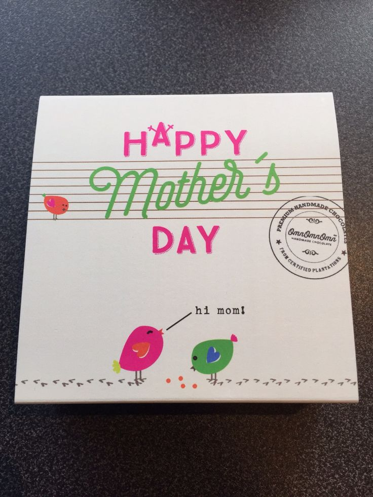 Chocolate box. To all mothers out there.