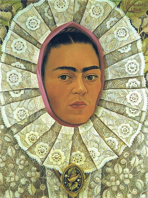 Frida Kahlo, Self-Portrait, 1948 - looks like an altarpiece!