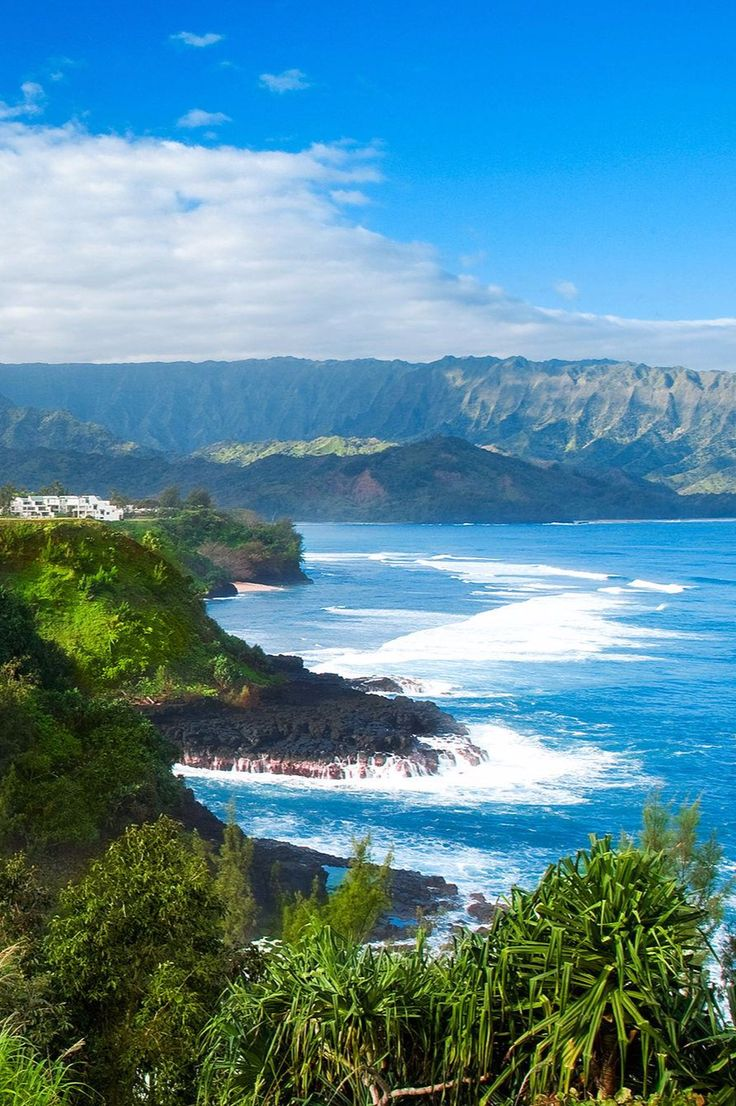 On the other side of the hotel's haute Hawaiian entrance, a cliff tumbles to the Pacific Ocean. The St. Regis Princeville Resort (Princeville, Hawaii) - Jetsetter