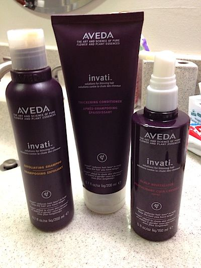 Review, Before/After Photos: Aveda Invanti System - Hair Thickening, Revitalizing Shampoo, Conditioner, Scalp Spray