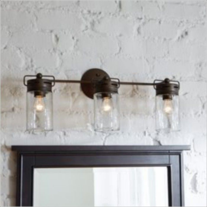 Farmhouse Bathroom Light Fixtures Unique 40 Best Lighting Images On Pinterest  Lights Downstairs Bathroom
