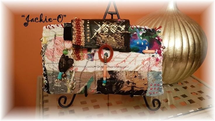 "Hand Made BoHo Bohemian Handbag Original Signed Numbered FAB*BOHO""JACKIE-O"" #010 #FABBOHO #Clutch"