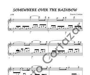 THE SOMEWHERE FREE MUSIC SHEET PIANO OVER RAINBOW