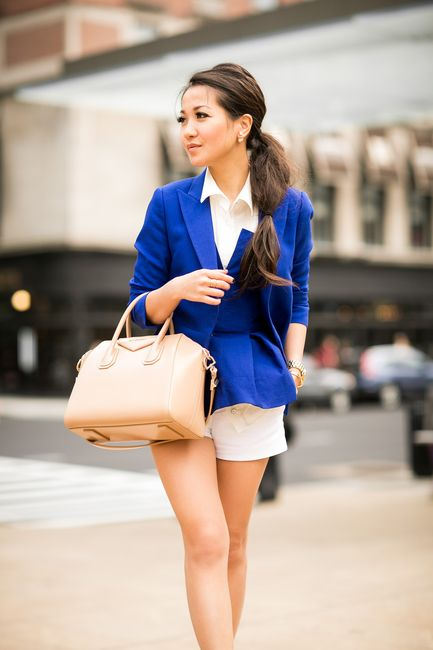 Cobalt City :: Royal blue blazer & Tod's loafers :: Outfit :: Top :: BLK DNM blazer , Cameo corset, Rag & Bone shirt Bottom :: Zara Shoes :: thanks to Tod's! Bag :: Givenchy Accessories :: Michael Kors watch, Wendy's Lookbook X Tacori Promise Bracelet, Jennifer Zeuner ring, Bauble Bar earrings, rings thanks to Lulu Frost! Published: June 4, 2014