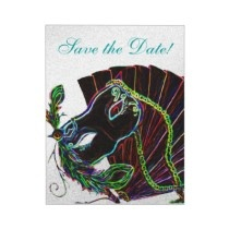 Mardi Gras Save the Date cards | Party like it's Tuesday! | Pinterest